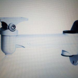 Sliver Aluminum Indoor wall mounting bracket for gunbullet camera bracket
